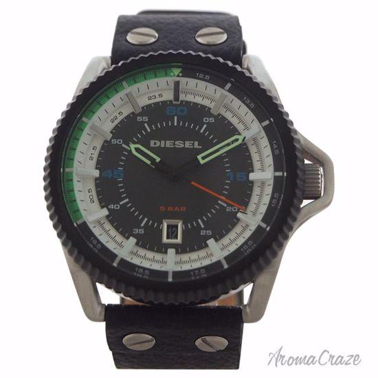 Diesel DZ1717 Rollcage Black Leather Strap Watch for Men 1 P
