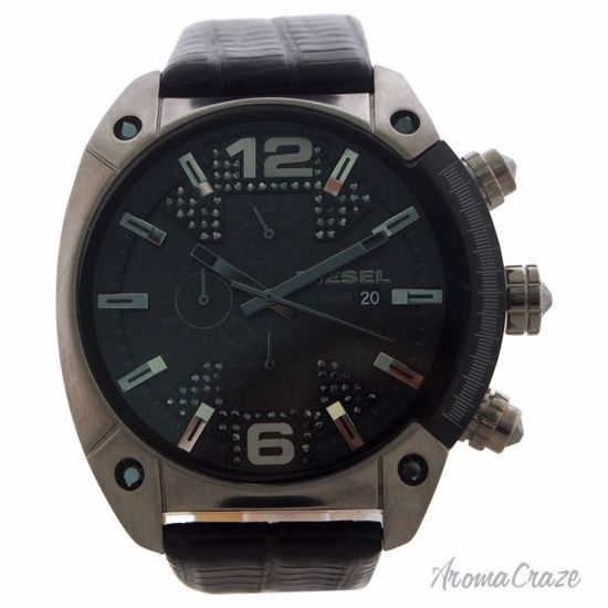 Diesel DZ4372 Overflow Stainless Steel Leather Chronograph W