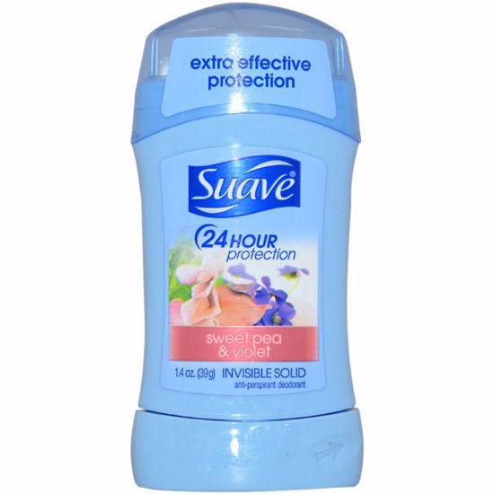 Suave 24 Hour Protection Sweet Pea & Violet Invisible Solid Anti-Perspirant Deodorant for Unisex 1.4 oz - Deodorants | Antisperspirants | Deodorants Sticks | Deodorants Roll On | Best Deodorants For Women and Men | Deodorants and Antiperspirants | Unisex Deodorants | AromaCraze.com