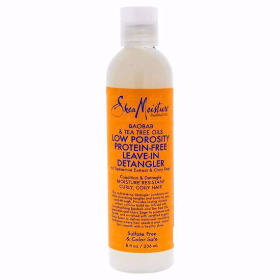 Shea Moisture Baobab & Tea Tree Oils Low Porosity Protein-Free Leave-In Detangler for Unisex 8 oz - Hair Styling Products | Hair Styling Cream | Hair Spray | Hair Styling Products For Men | Hair Styling Products For Women | Hair Care Products | AromaCraze.com
