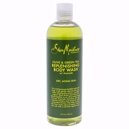 Shea Moisture Olive & Green Tea Body Wash  for Unisex 13 oz