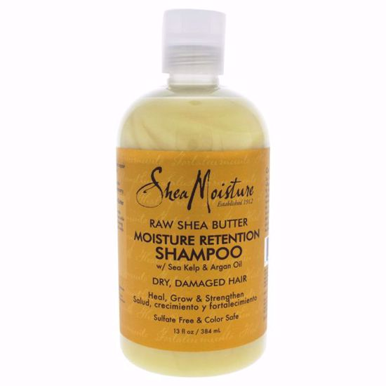 Shea Moisture Raw Shea Butter Moisture Retention Shampoo  for Unisex 13 oz - Hair Shampoo | Best Shampoo For Hair Growth | Shampoo and Conditioner For Damage Hair | Fizzy Hair Shampoo | Best Professional Shampoo | Top Brands Hair Care Products | AromaCraze.com