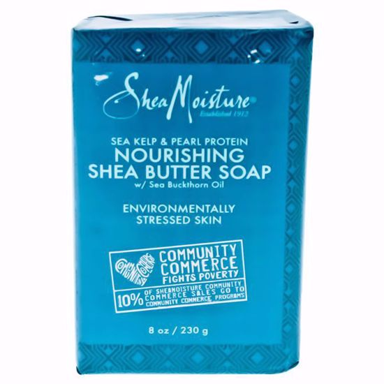 Shea Moisture Sea Kelp & Pearl Protein Nourishing Shea Butter Bar Soap for Unisex 8 oz - Top Skin Care Products | Best Anti Aging Skin Care Products| Body Care | All Natural Skin care | AromaCraze.com