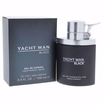 Myrurgia Yacht Man Black Men EDT Spray 3.4 oz