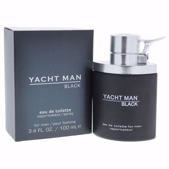 Myrurgia Yacht Man Black Men EDT Spray 3.4 oz