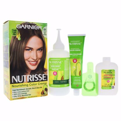 Garnier Nutrisse Nourishing  61 Light Ash Brown Unisex Hair