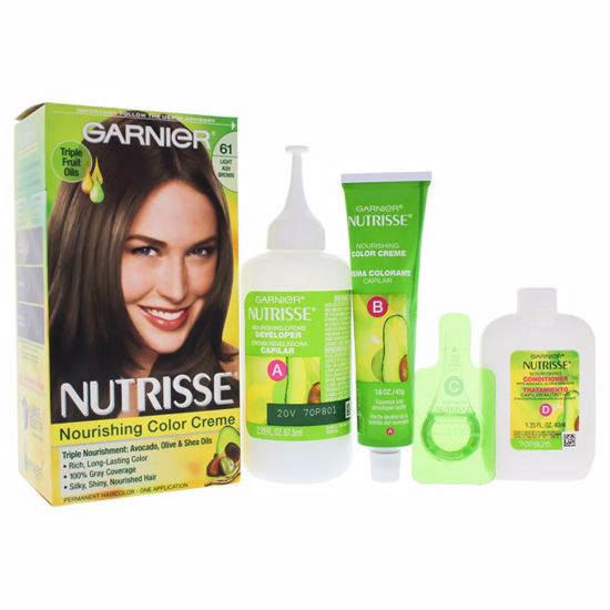 Garnier Nutrisse Nourishing  61 Light Ash Brown Unisex Hair