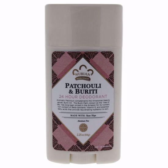 Nubian Heritage Patchouli & Buriti Deodorant for Unisex 2.25