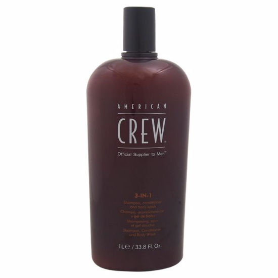 American Crew 3 In 1 Men Shampoo Conditioner Body Wash  33.8