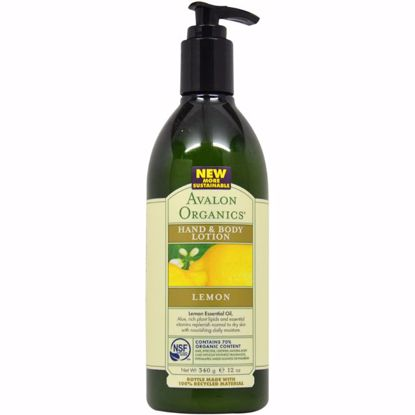 Avalon Organics Lemon Hand Body Lotion Unisex 12 oz
