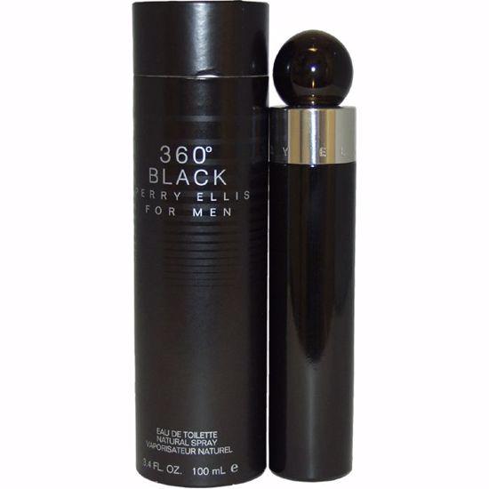 Perry Ellis 360 Black Men EDT Spray 3.4 oz