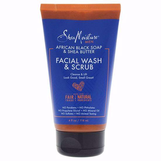 Shea Moisture Butter Facial Wash Scrub Cleanser Men 4 oz