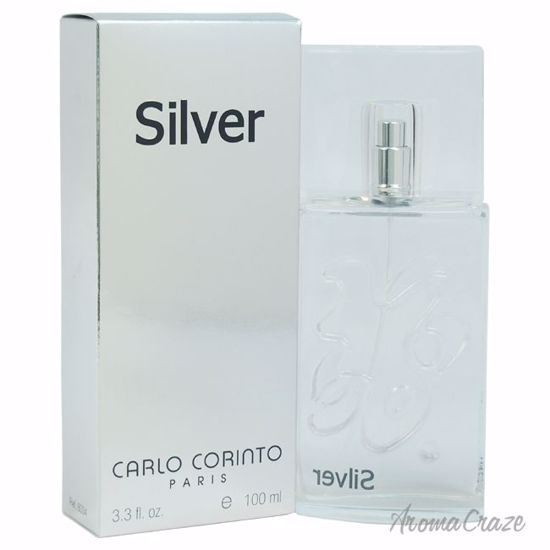 Carlo Corinto Silver EDT Spray for Men 3.3 oz