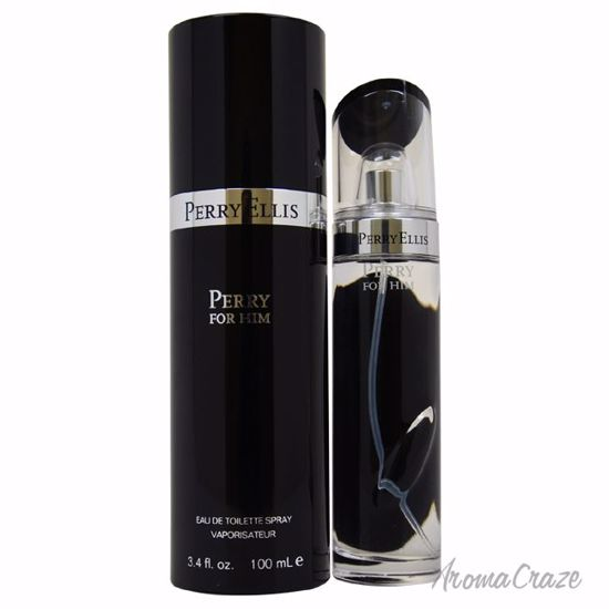 Perry by Perry Ellis Black EDT Spray for Men 3.4 oz