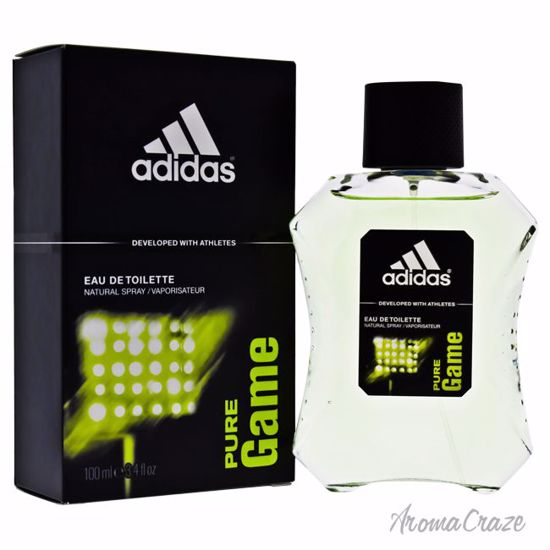 Adidas Eau de Toilette Spray for Men, Pure Game, 3.4 Oz