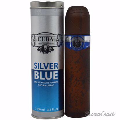 Cuba by Cuba Silver Blue EDT Spray for Men 3.3 oz