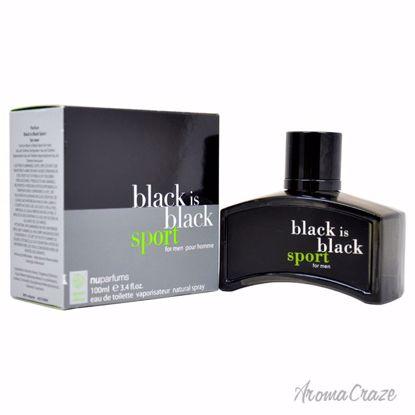 Nuparfums Black Is Black Sport EDT Spray for Men 3.4 oz