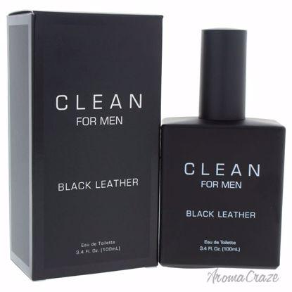 Clean Black Leather EDT Spray for Men 3.4 oz