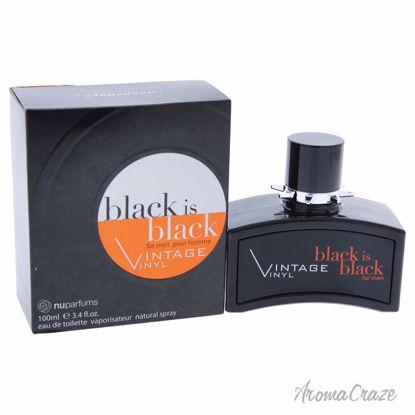Nuparfums Black is Black Vintage Vinyl EDT Spray for Men 3.4