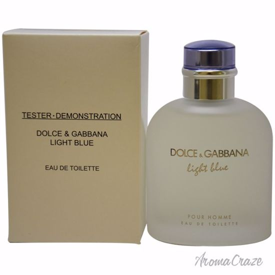 156ef60d830d Dolce   Gabbana Light Blue EDT Spray (Tester) for Men 4.2 oz ...