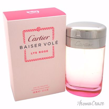 Cartier Baiser Vole Lys Rose EDT Spray for Women 3.3 oz