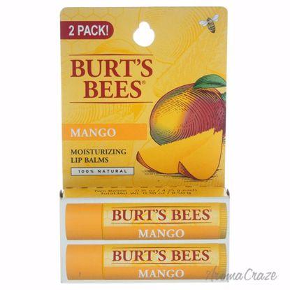 Burt's Bees Mango Moisturizing Lip Balm Twin Pack Unisex 2 x 0.15 oz - Lip Care Products | Lip Balm | Lip Shimmer | Lip Moisturizers | Best Selling Lip Care Products | All Natural Skin care | AromaCraze.com