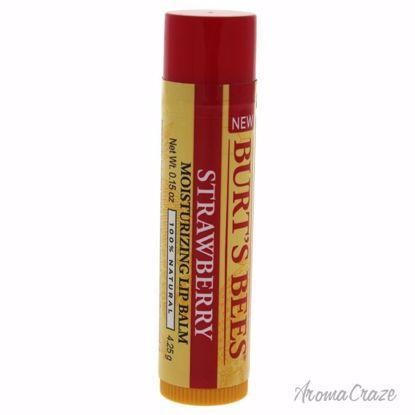 Burt's Bees Strawberry Moisturizing Lip Balm Unisex 0.15 oz - Lip Care Products | Lip Balm | Lip Shimmer | Lip Moisturizers | Best Selling Lip Care Products | All Natural Skin care | AromaCraze.com