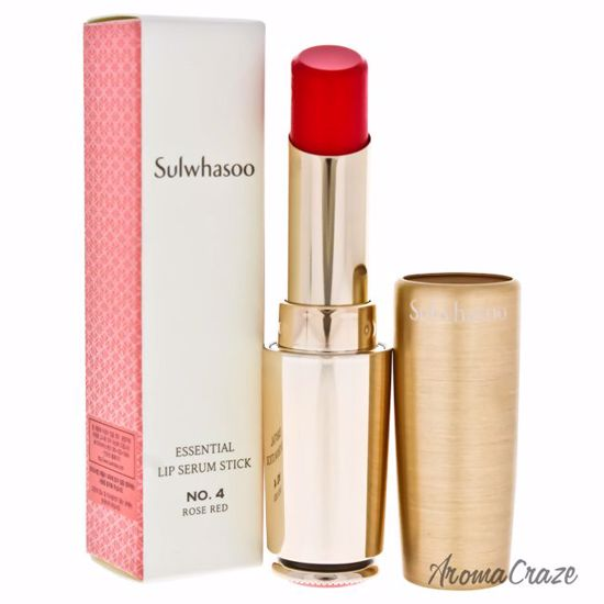 Sulwhasoo Essential Lip Serum Stick # 04 Rose Red Lip Treatment for Women  0 1 oz