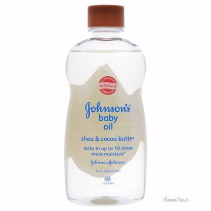 Johnson & Johnson Baby Oil, Shea and Cocoa Butter Oil for Kids 14 oz - Top Skin Care Products | Best Anti Aging Skin Care Products| Body Care | All Natural Skin care | AromaCraze.com