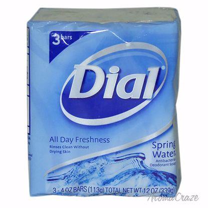 Dial Spring Water Antibacterial Deodorant Soap Unisex 3 x 4