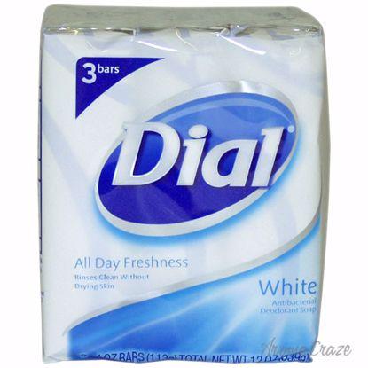 Dial White Antibacterial Deodorant Soap Unisex 3 x 4 oz