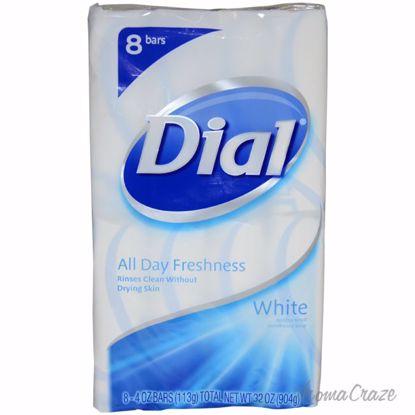 Dial White Antibacterial Deodorant Soap Unisex 8 x 4 oz