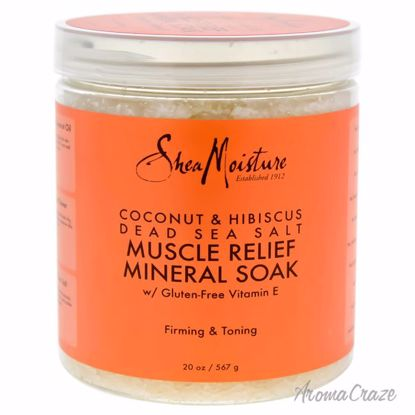 Shea Moisture Coconut & Hibiscus Dead Sea Salt Muscle Relief Mineral Soak Scrub Unisex 20 oz - Top Skin Care Products | Best Anti Aging Skin Care Products| Body Care | All Natural Skin care | AromaCraze.com