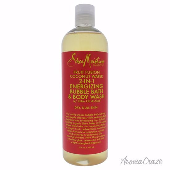 Shea Moisture Fruit Fusion Coconut Water Energizing Bubble Bath & Body Wash Unisex 16 oz - Top Skin Care Products | Best Anti Aging Skin Care Products| Body Care | All Natural Skin care | AromaCraze.com