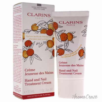 Clarins Hand and Nail Treatment Cream Mandarin Leaf Scented Unisex 1 oz - Hands and Nails Care Products | Top Skin Care Products | All Natural Skin care | AromaCraze.com