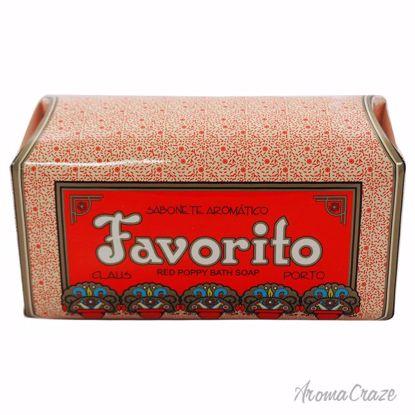 Claus Porto Favorito Red Poppy Bath Soap for Women 12.4 oz