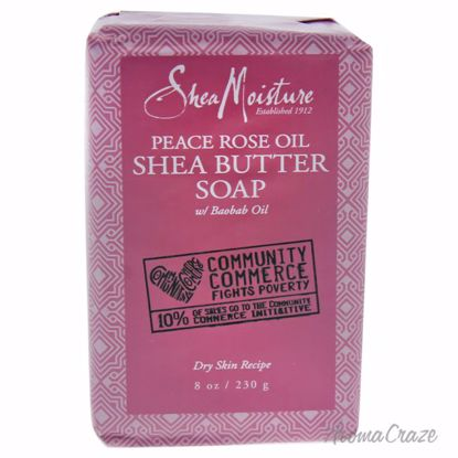 Shea Moisture Peace Rose Oil Shea Butter Soap Dry Skin Bar for Women 8 oz - Top Skin Care Products | Best Anti Aging Skin Care Products| Body Care | All Natural Skin care | AromaCraze.com