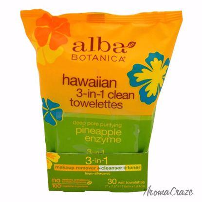 Alba Botanica Hawaiian 3-in-1 Clean Towelettes Pineapple Enz