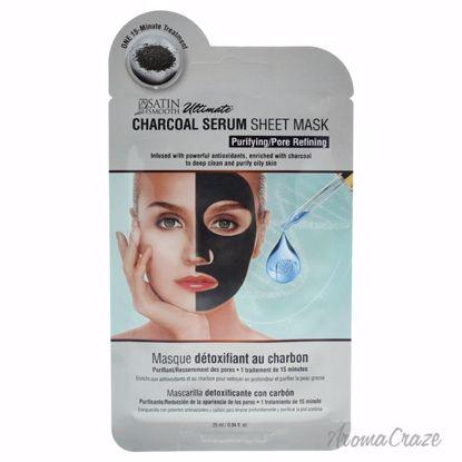Satin Smooth Charcoal Serum Sheet Mask Unisex 0.84 oz