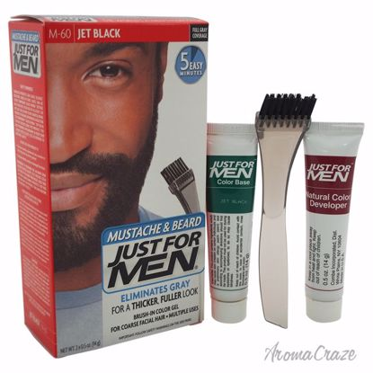 Just For Men Brush-In Color Gel Mustache & Beard Jet Black #