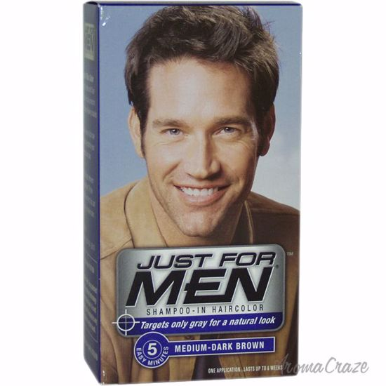 Just For Men Shampoo-In Hair Color Medium-Dark Brown # 40 Hair Color for  Men 1 Application