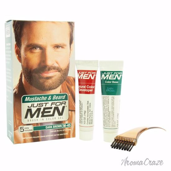 JUST FOR MEN Brush-In Color Gel Mustache & Beard M-45 Dark Brown Hair Color  for Men 1 Application