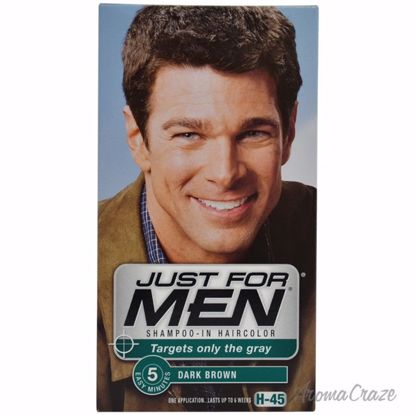 JUST FOR MEN Shampoo-In Haircolor H-45 Dark Brown Hair Color