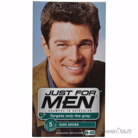 JUST FOR MEN Shampoo-In Haircolor H-45 Dark Brown Hair Color for Men ...