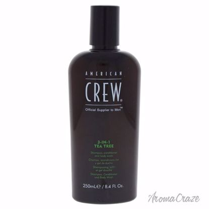 American Crew 3-In-1 Tea Tree Shampoo & Conditioner & Body Wash for Men 8.4 oz - Hair Shampoo | Best Shampoo For Hair Growth | Shampoo and Conditioner For Damage Hair | Fizzy Hair Shampoo | Best Professional Shampoo | Top Brands Hair Care Products | AromaCraze.com