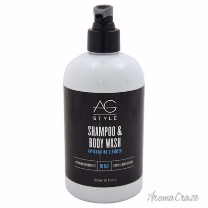 AG Hair Cosmetics Shampoo & Body Wash Invigorating Cleanser Unisex 12 oz - Hair Shampoo | Best Shampoo For Hair Growth | Shampoo and Conditioner For Damage Hair | Fizzy Hair Shampoo | Best Professional Shampoo | Top Brands Hair Care Products | AromaCraze.com