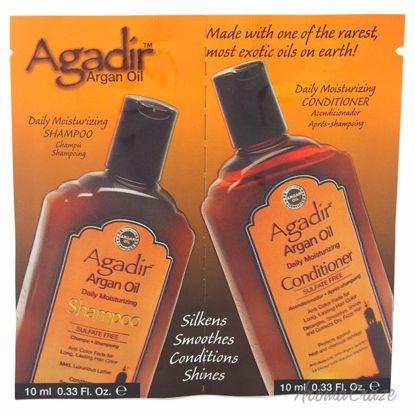 Agadir Agadir Oil Daily Moisturizing Shampoo & Conditioner Duo Unisex 2 x 0.33 oz - Hair Shampoo | Best Shampoo For Hair Growth | Shampoo and Conditioner For Damage Hair | Fizzy Hair Shampoo | Best Professional Shampoo | Top Brands Hair Care Products | AromaCraze.com
