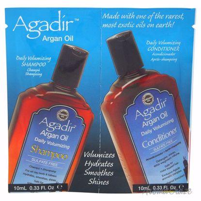 Agadir Argan Oil Daily Volumizing Shampoo & Conditioner Duo Unisex 2 x 0.33 oz - Hair Shampoo | Best Shampoo For Hair Growth | Shampoo and Conditioner For Damage Hair | Fizzy Hair Shampoo | Best Professional Shampoo | Top Brands Hair Care Products | AromaCraze.com