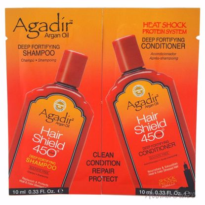 Agadir Argan Oil Hair Shield 450 Deep Fortifying Shampoo & Conditioner Duo Unisex 2 x 0.33 oz - Hair Shampoo | Best Shampoo For Hair Growth | Shampoo and Conditioner For Damage Hair | Fizzy Hair Shampoo | Best Professional Shampoo | Top Brands Hair Care Products | AromaCraze.com
