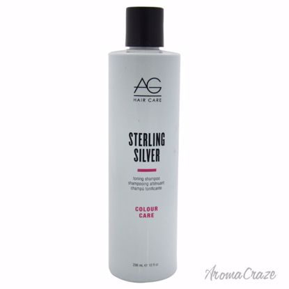 AG Hair Cosmetics Sterling Silver Toning Shampoo Unisex 10 oz - Hair Shampoo | Best Shampoo For Hair Growth | Shampoo and Conditioner For Damage Hair | Fizzy Hair Shampoo | Best Professional Shampoo | Top Brands Hair Care Products | AromaCraze.com